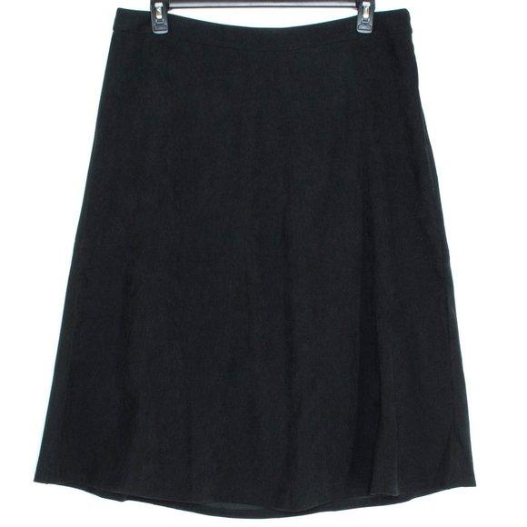 NWT Christopher & Banks Womens Skirt Black 16 GQ
